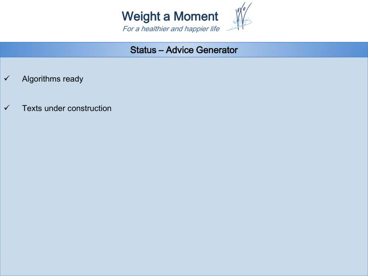 Status – Advice Generator