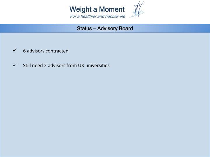 Status – Advisory Board