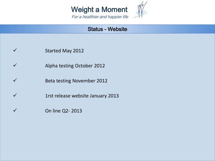 Status - Website