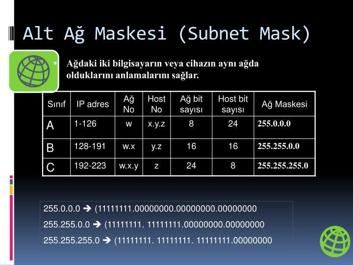 Alt Ağ Maskesi (