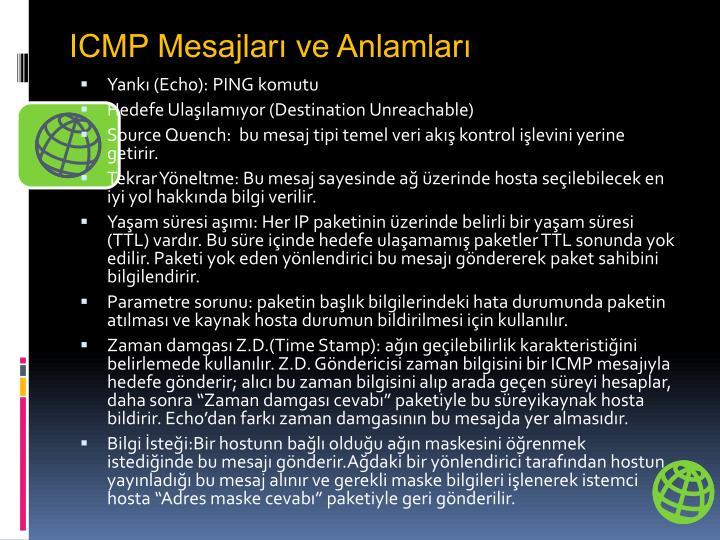 ICMP Mesajları ve Anlamları
