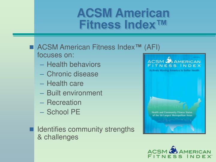 ACSM American