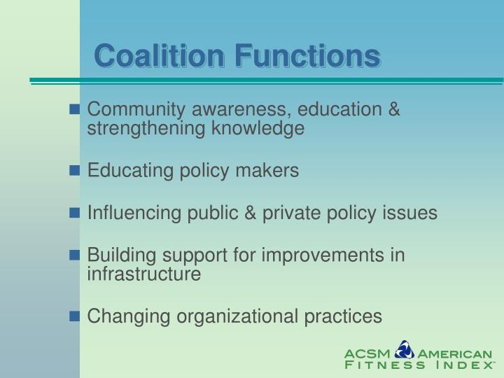 Coalition Functions