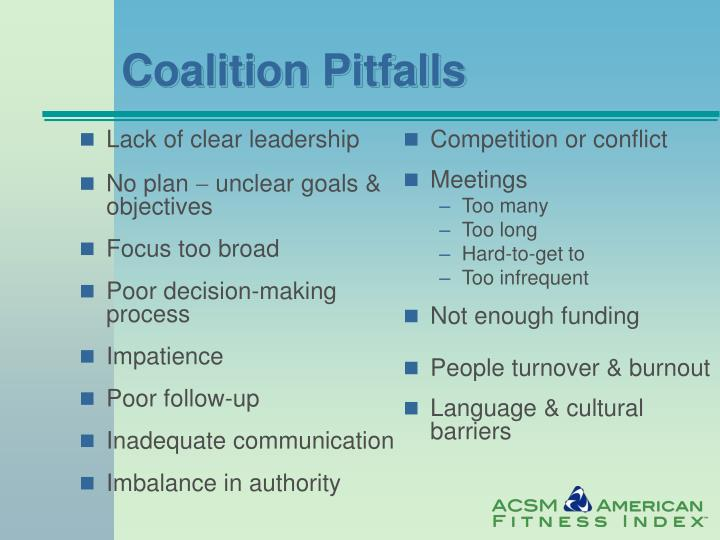 Coalition Pitfalls