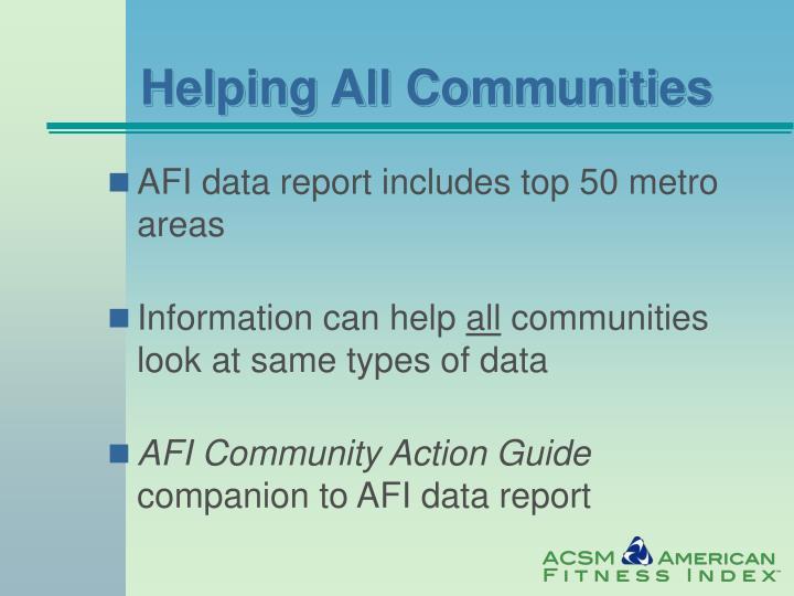 Helping All Communities