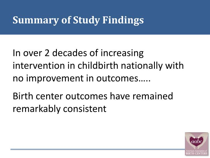Summary of Study Findings