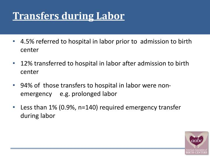 Transfers during Labor