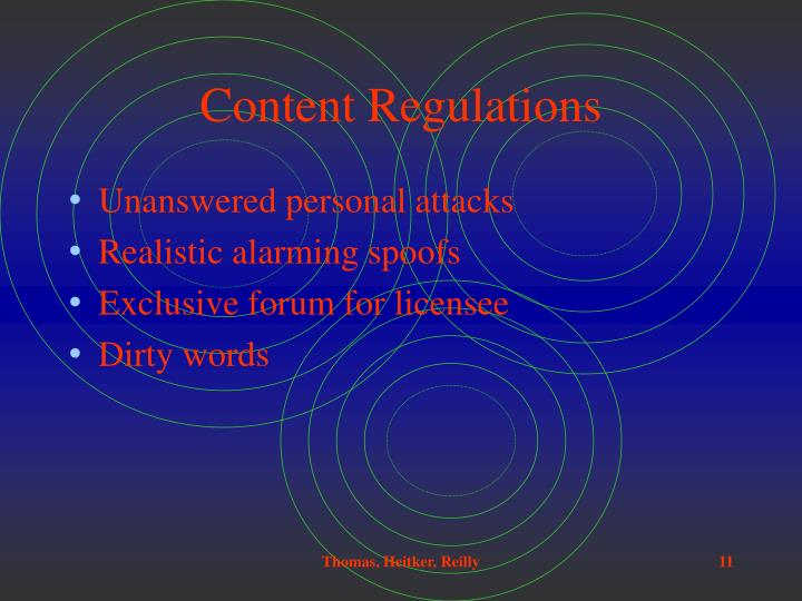 Content Regulations