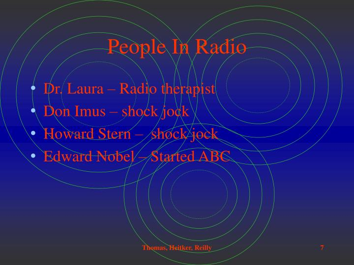 People In Radio