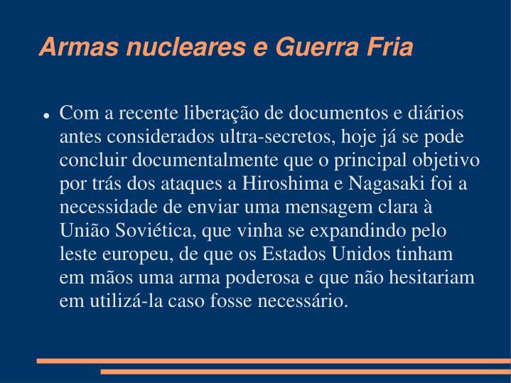 Armas nucleares e Guerra Fria