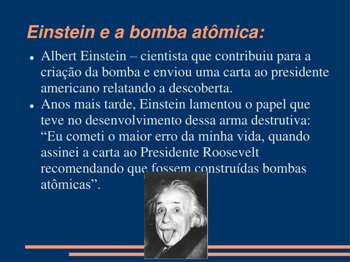 Einstein e a bomba atômica:
