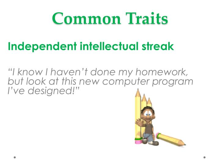 Common Traits