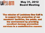 may 31 2012 board meeting