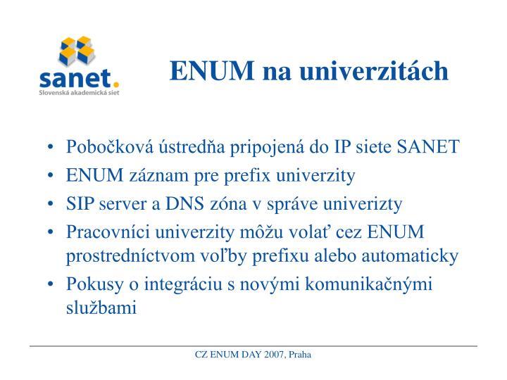 ENUM na univerzitách