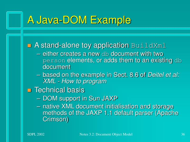 A Java-DOM Example