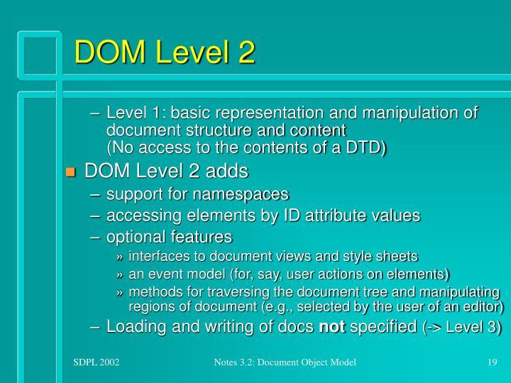 DOM Level 2