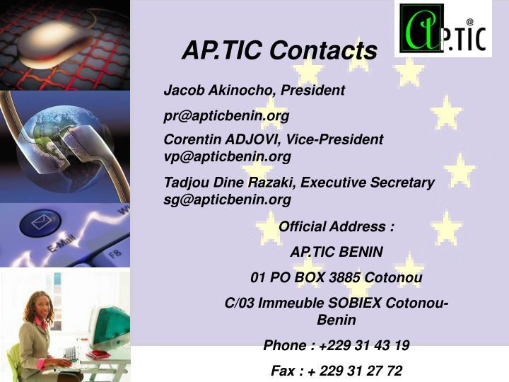 AP.TIC Contacts