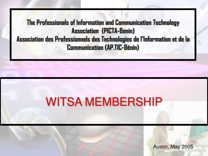 The Professionals of Information and Communication Technology Association  (PICTA-Benin)