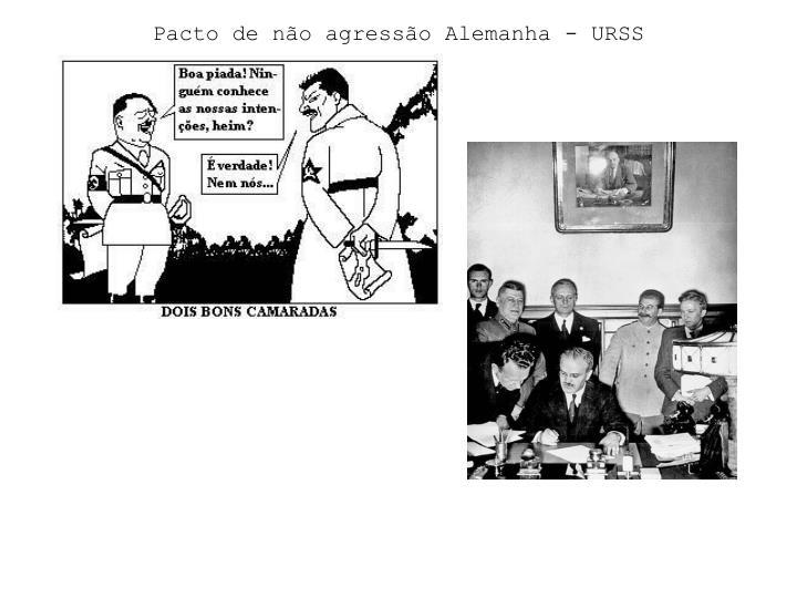 Pacto de não agressão Alemanha - URSS