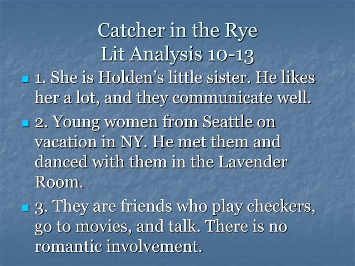 an analysis of holdens insecurity in the catcher in the rye by j d salinger 586 quotes from the catcher in the rye: 'what really knocks me out is a book that, when you're all done reading it, you wish the author that wrote it was.