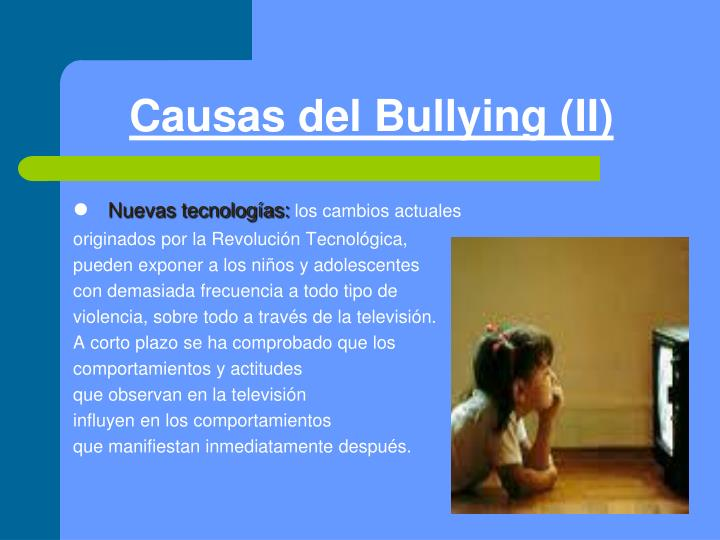 Causas del Bullying (II)