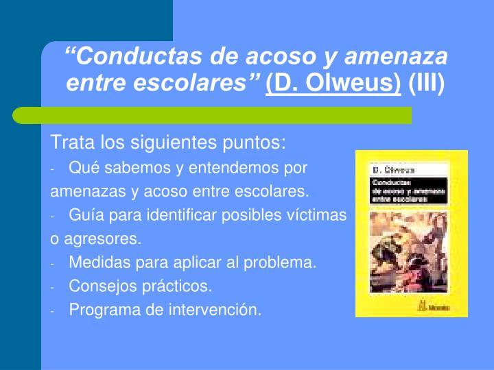 """""""Conductas de acoso y amenaza entre escolares"""""""