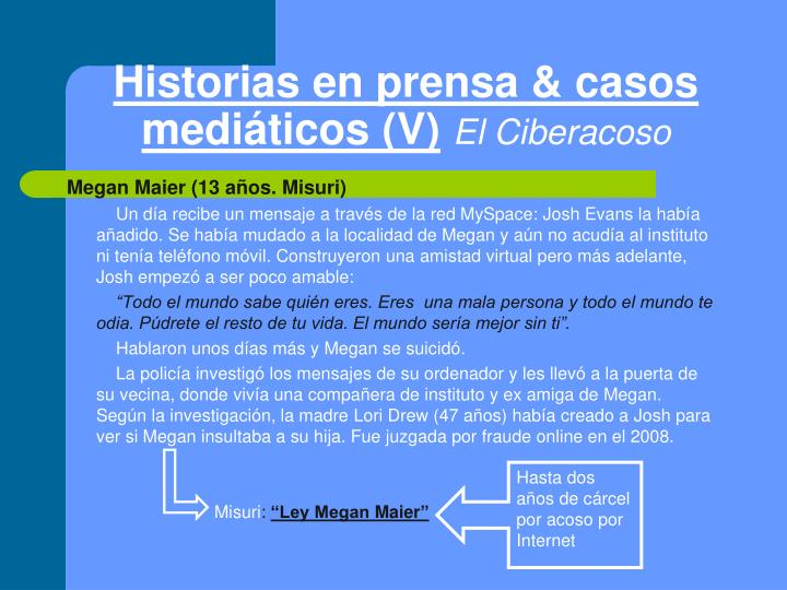 Historias en prensa & casos mediáticos (V)