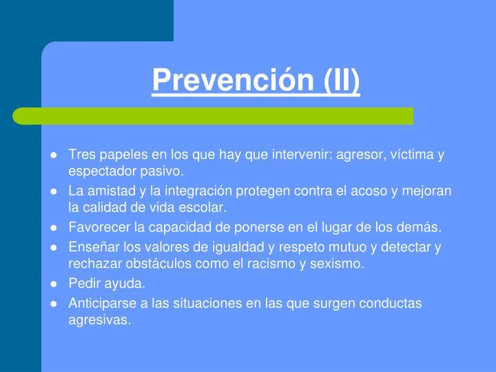 Prevención (II)