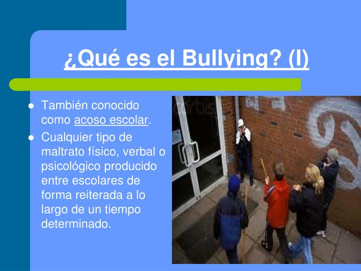 Qu es el bullying i