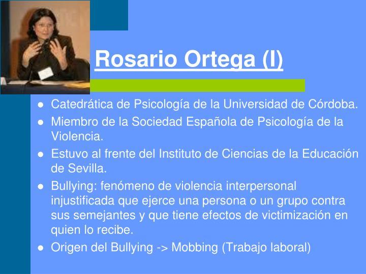 Rosario Ortega (I)