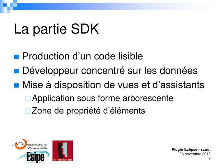 La partie SDK