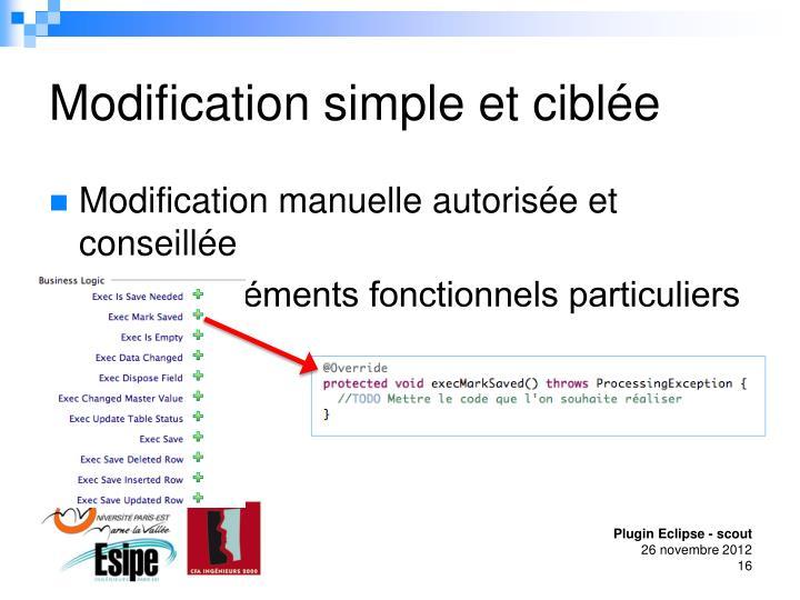 Modification simple et ciblée