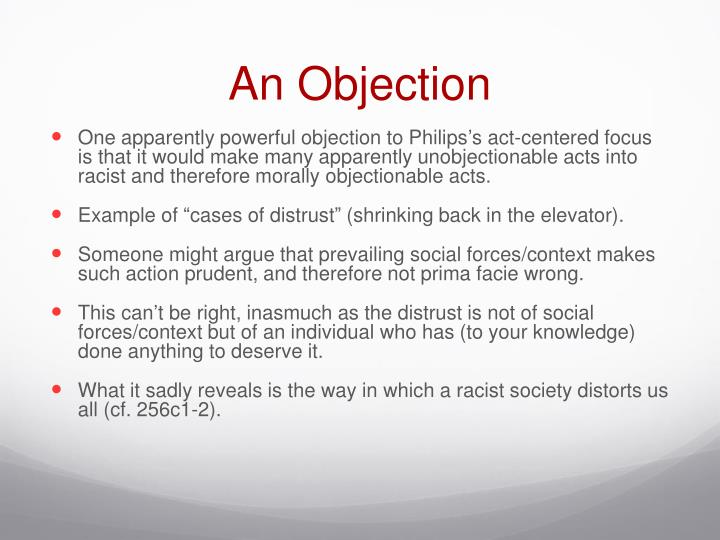 An Objection