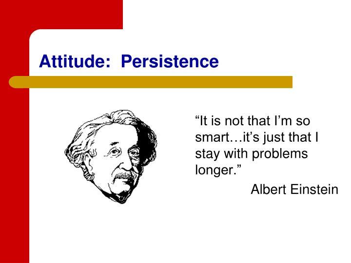 Attitude:  Persistence