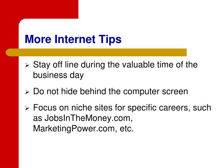 More Internet Tips