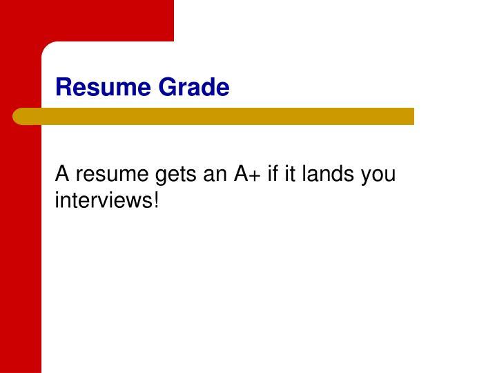 Resume Grade