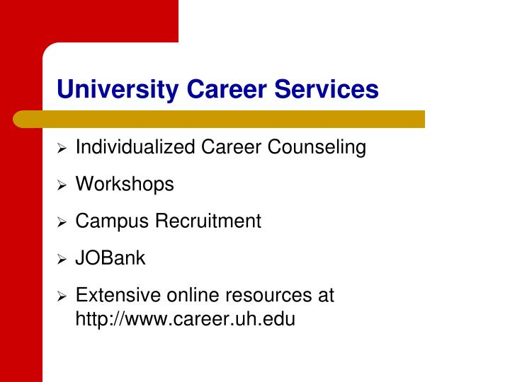 University Career Services