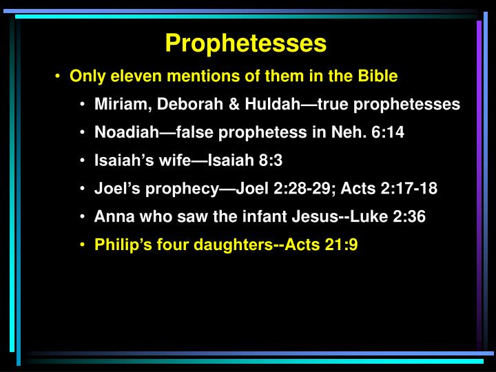 Prophetesses