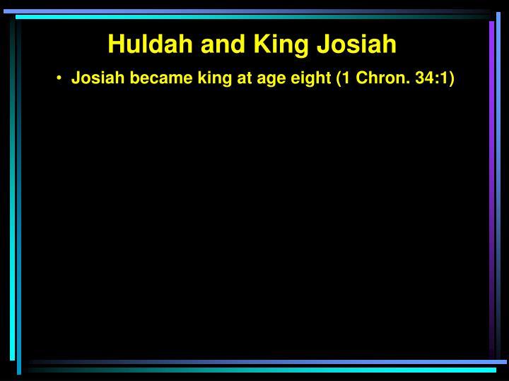 Huldah and King Josiah