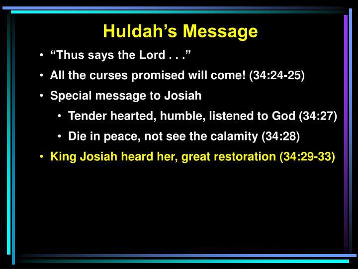 Huldah's Message