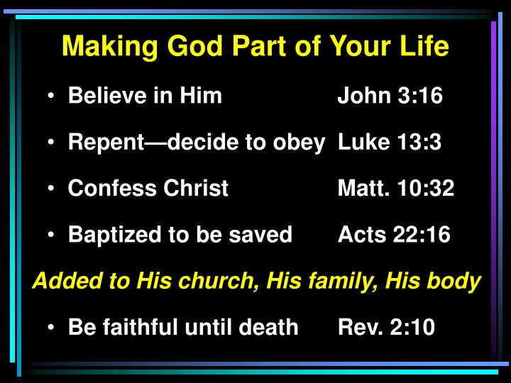 Making God Part of Your Life