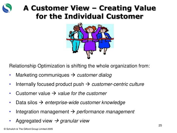 A Customer View – Creating Value for the Individual Customer
