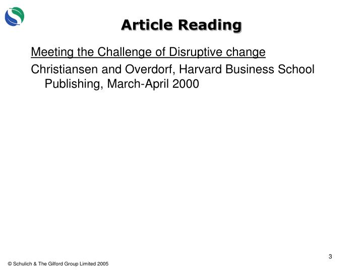 Article Reading