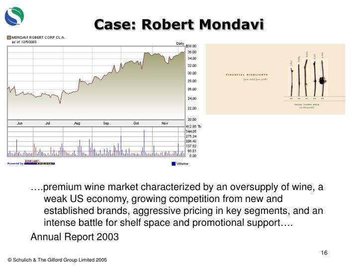 Case: Robert Mondavi