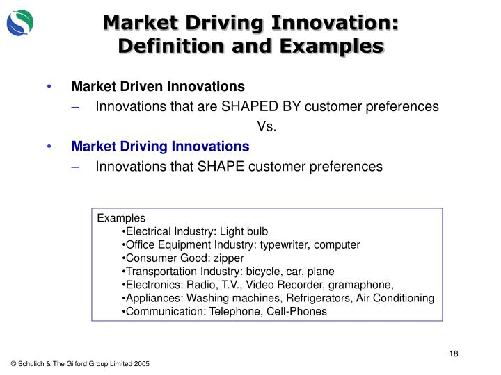 Market Driving Innovation:  Definition and Examples