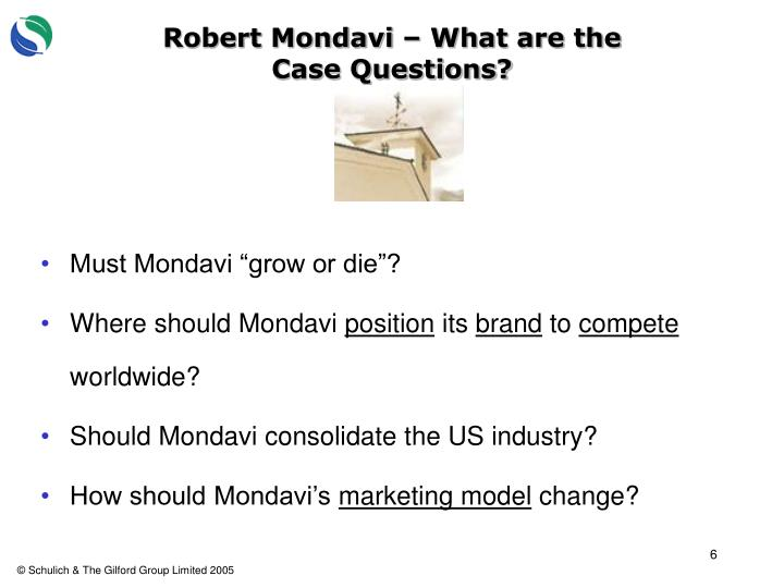 Robert Mondavi – What are the Case Questions?