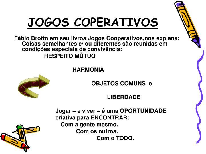 JOGOS COPERATIVOS