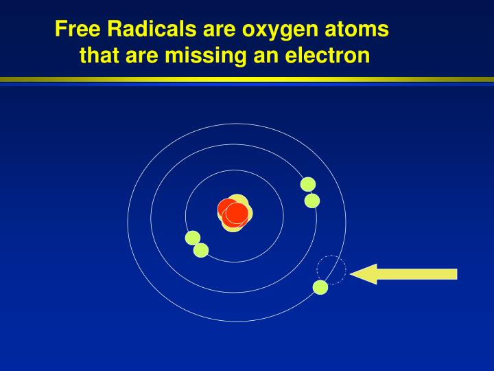 Free Radicals are oxygen atoms