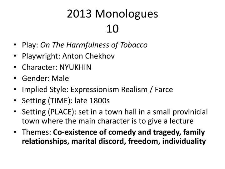 2013 Monologues