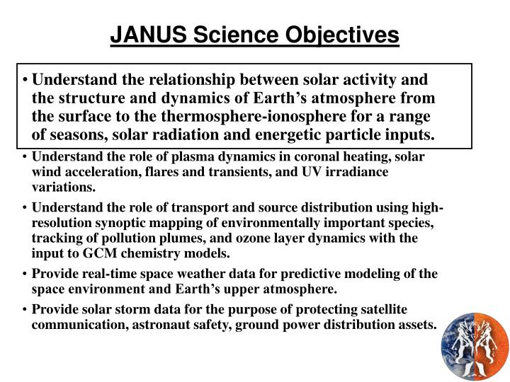 JANUS Science Objectives
